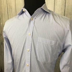"CHARLES TYRWHITT 15.5 / 35"" Blue Striped Shirt"